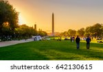 views of the washington... | Shutterstock . vector #642130615