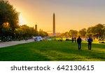 views of the washington... | Shutterstock . vector #642130615