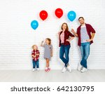 Happy Family With Ballons....