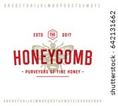 honey company vintage logo...   Shutterstock .eps vector #642131662