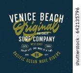 venice beach original surf...   Shutterstock .eps vector #642135796