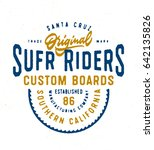 santa cruz original surf riders ... | Shutterstock .eps vector #642135826