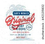 santa monica original surf... | Shutterstock .eps vector #642135832