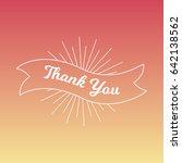 thank you card. vector vintage... | Shutterstock .eps vector #642138562
