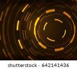 neon yellow circles vector... | Shutterstock .eps vector #642141436