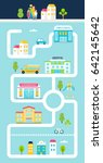 city or town facilities... | Shutterstock .eps vector #642145642