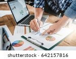 young business people and... | Shutterstock . vector #642157816