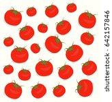 tomatoes on white background.... | Shutterstock .eps vector #642157846