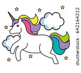 cute unicorn design | Shutterstock .eps vector #642164212