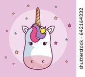 cute unicorn design | Shutterstock .eps vector #642164332