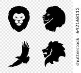 majestic icons set. set of 4... | Shutterstock .eps vector #642168112