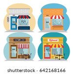 shopping stores design | Shutterstock .eps vector #642168166