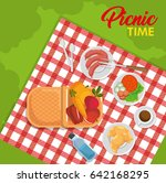 picnic time design | Shutterstock .eps vector #642168295