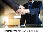business partnership meeting... | Shutterstock . vector #642171442