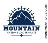 mountain logo template.... | Shutterstock .eps vector #642177088