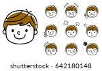 boy's expression  set  variation | Shutterstock .eps vector #642180148