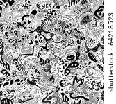 Crazy Seamless Doodle Pattern....