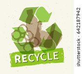 recycle garbage vector... | Shutterstock .eps vector #642187942