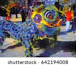 mosaic style illustration of a... | Shutterstock . vector #642194008