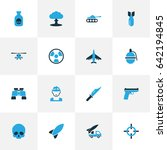 army colorful icons set.... | Shutterstock .eps vector #642194845