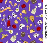dia de los muertos day of the... | Shutterstock .eps vector #642195178
