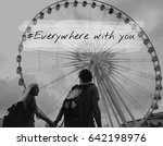 Small photo of Couple Love Spend Time Together Smitten Word Graphic