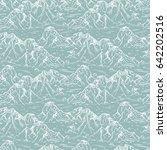 mountains sketch seamless...   Shutterstock .eps vector #642202516