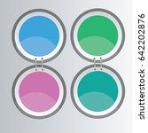 abstract circle banner texture...   Shutterstock .eps vector #642202876