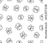 seamless pattern with...   Shutterstock .eps vector #642207238