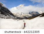 annapurna view during the trip...   Shutterstock . vector #642212305
