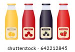 glass bottles with natural... | Shutterstock .eps vector #642212845