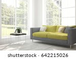 white room with sofa and green... | Shutterstock . vector #642215026