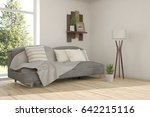 white room with sofa and green... | Shutterstock . vector #642215116