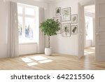 white empty room with winter... | Shutterstock . vector #642215506