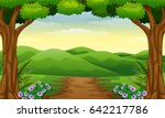 vector illustration of hills... | Shutterstock .eps vector #642217786