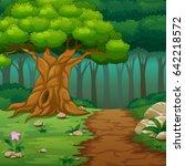 vector illustration of forest... | Shutterstock .eps vector #642218572