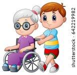 vector illustration of cartoon... | Shutterstock .eps vector #642219982