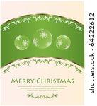 merry christmas   vector   Shutterstock .eps vector #64222612