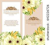 vintage delicate invitation... | Shutterstock . vector #642226726