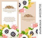 vintage delicate invitation... | Shutterstock . vector #642226732