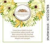 vintage delicate invitation... | Shutterstock . vector #642226786