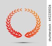 laurel wreaths sign. vector.... | Shutterstock .eps vector #642230026
