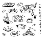 hand drawing styles of italion... | Shutterstock .eps vector #642231115