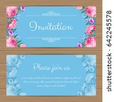 floral invitation or greeting... | Shutterstock .eps vector #642245578