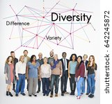 difference variety diversity... | Shutterstock . vector #642245872