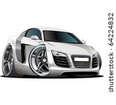 Vector Modern Cartoon Car. Als...