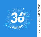 36th anniversary fireworks and... | Shutterstock .eps vector #642249586