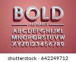 vector of bold modern font and... | Shutterstock .eps vector #642249712