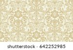 vector seamless damask pattern. ... | Shutterstock .eps vector #642252985