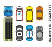 transportation means set in... | Shutterstock .eps vector #642256966